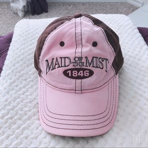 MAID OF THE MIST FACE CAP OS PINK BROWN